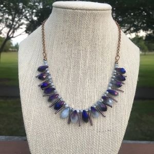 Jewelry - Oval Purple Tones Beads Chocker